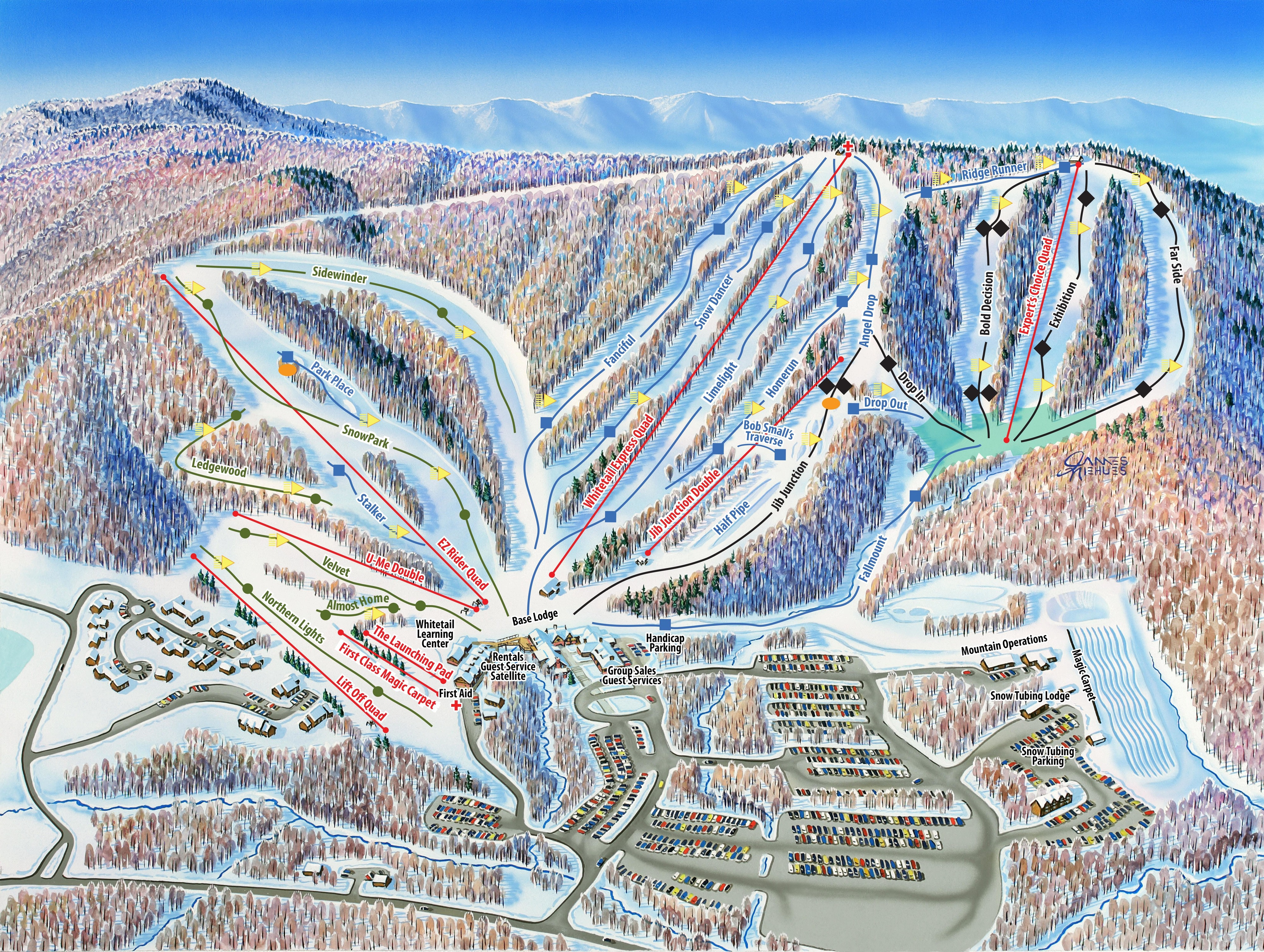 whitetail resort ski resort guide, location map & whitetail resort