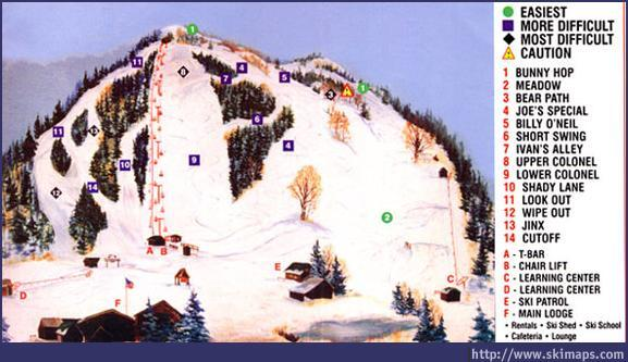 Willard Mountain Piste / Trail Map