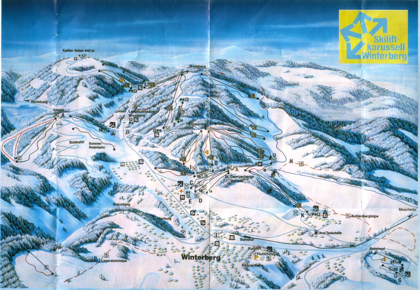 Winterberg Piste / Trail Map