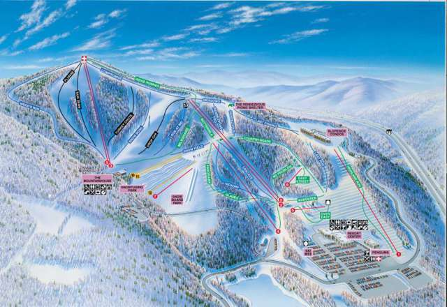 Winterplace Ski Resort Piste / Trail Map