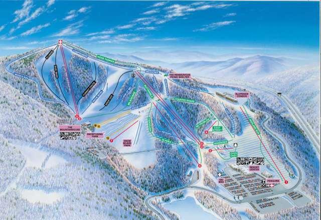 Winterplace Ski Resort Piste / Trail Map