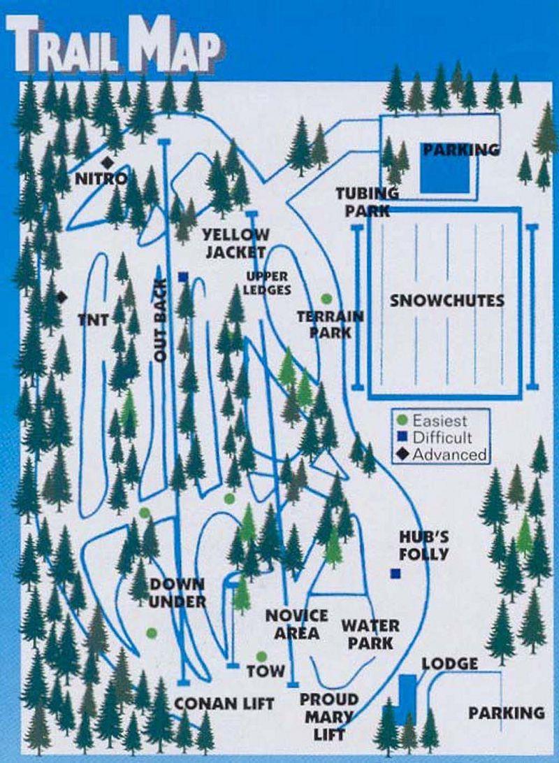 Yawgoo Valley Piste / Trail Map
