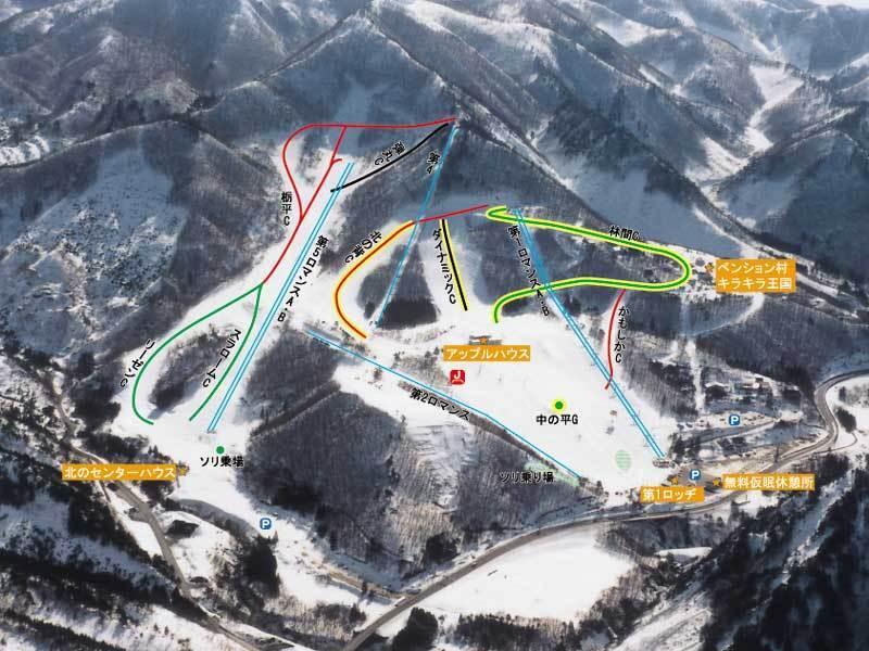 Yonezawa Piste / Trail Map