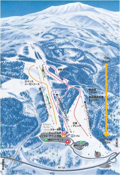 Yudonosan Piste / Trail Map