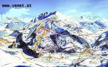 Zams Piste / Trail Map