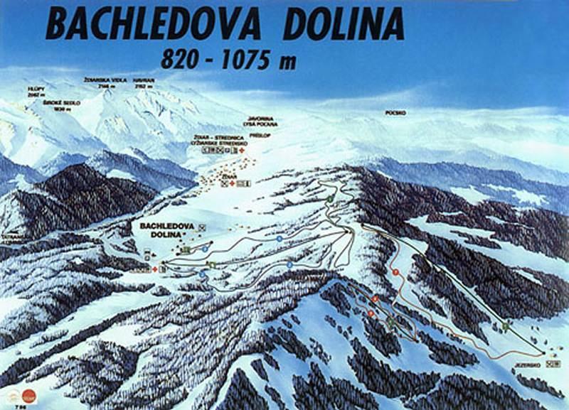 Ždiar - Bachledova Dolina Piste / Trail Map