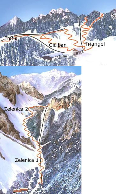 Zelenica Piste / Trail Map