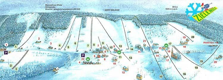 Zieleniec Piste / Trail Map