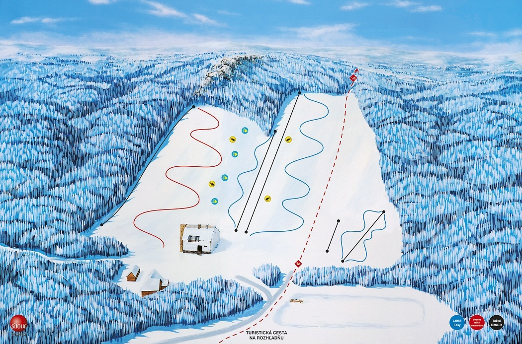 Zochova chata - Piesok Piste / Trail Map