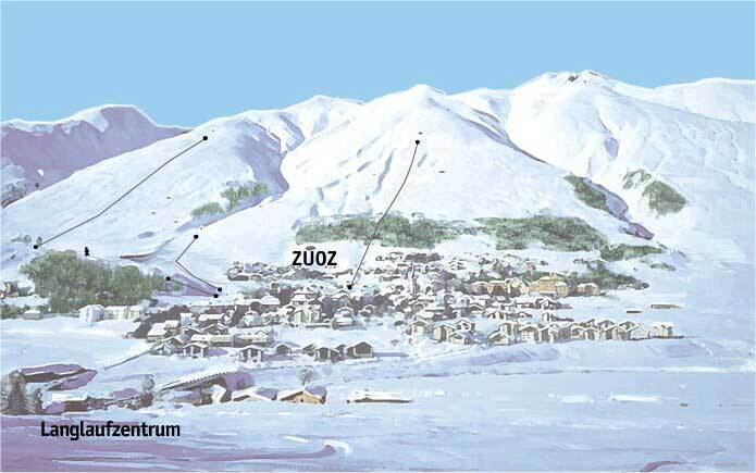 Zuoz/Engadin Piste / Trail Map