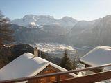Winter balkonblick