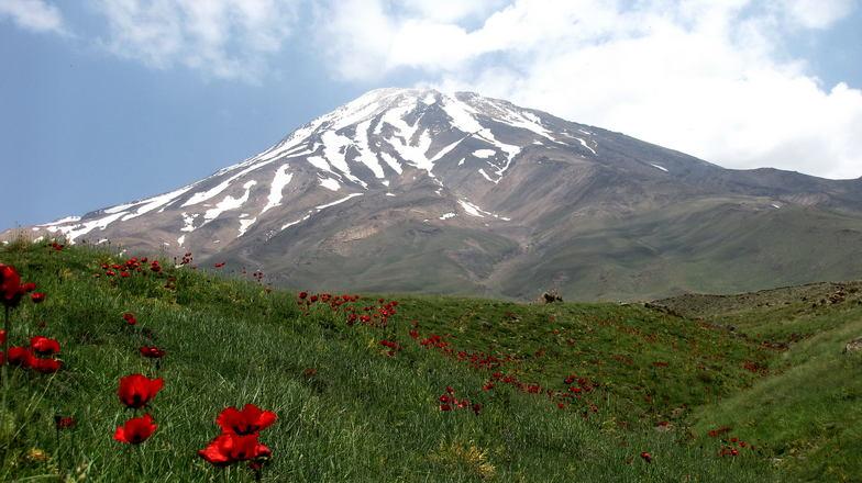 south view, Mount Damavand