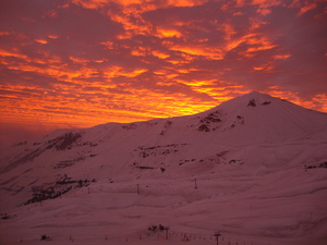Perfect Sunset, Valle Nevado photo
