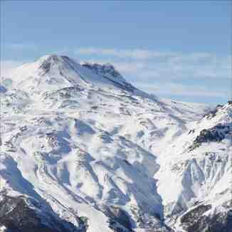 Con un desnivel vertical de 870 metros, Nevados de Chillan