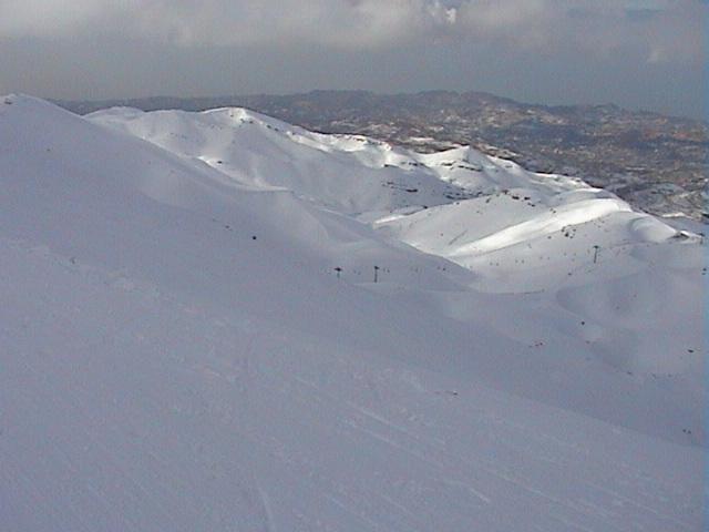 Faraya from 2500m, Mzaar Ski Resort