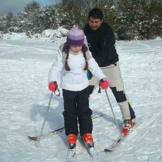 Aprendiendo a esquiar, Perito Moreno