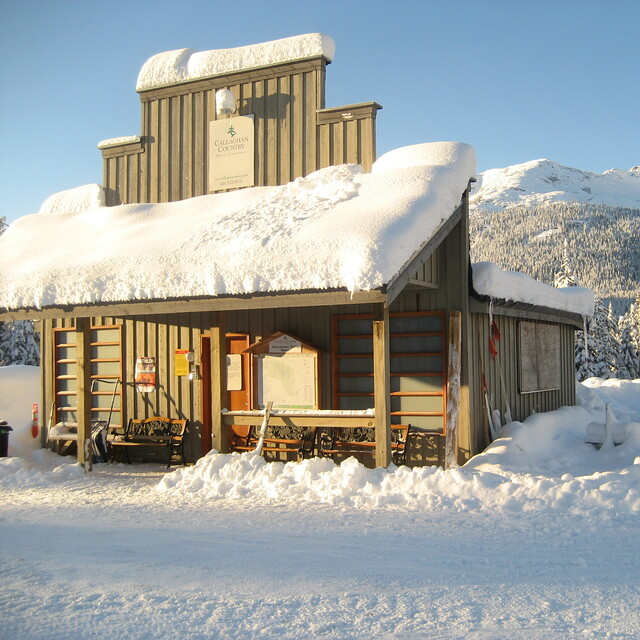 Crisp morning at Callaghan Country's cozy warming hut -  www.callaghancountry.com, Ski Callaghan