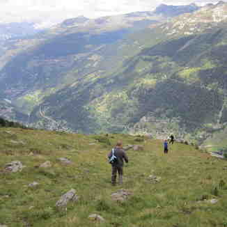 the Piste de Chamois .... in summer, Zinal