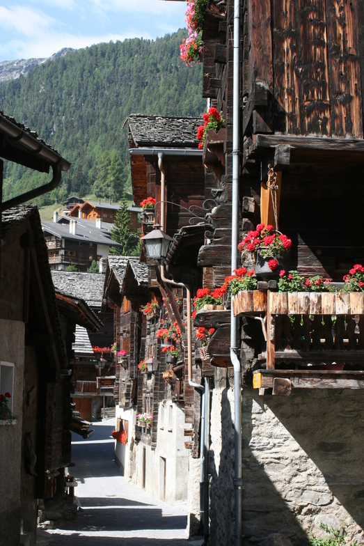 Grimentz in the summer