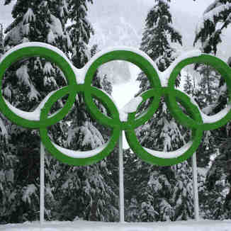 Olympic Rings at Cypress, Cypress Mountain