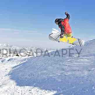 Snowboarding at Nevados, Nevados de Chillan