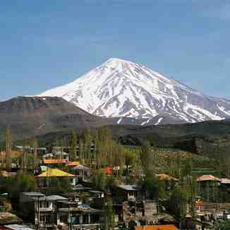 Mt. Damavand View from Polour, Early May 2005, Mount Damavand