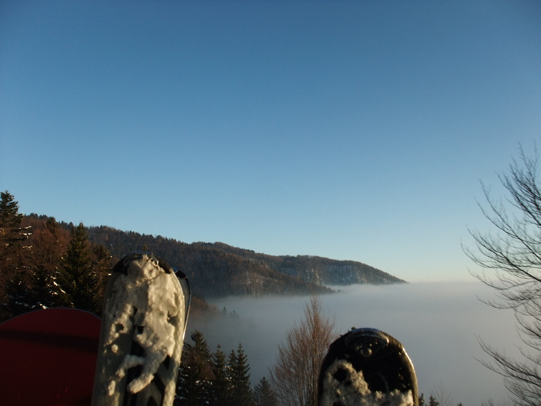 above the clouds, Krvavec
