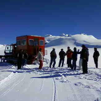 paseo en snow track al plateau, Perito Moreno