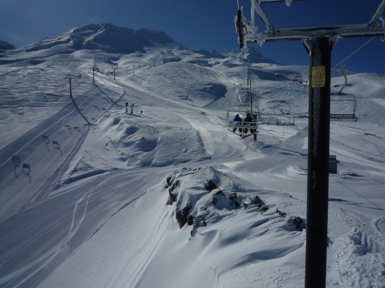 Bluebird morning after 2 days storm.. and 80cm of light n fluffy, Turoa