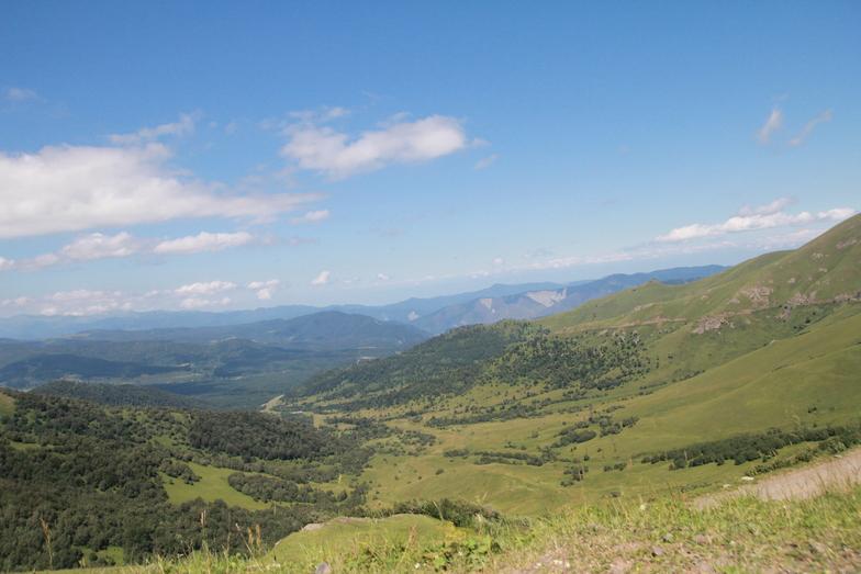 View from Tabatskuri pass, Bakuriani