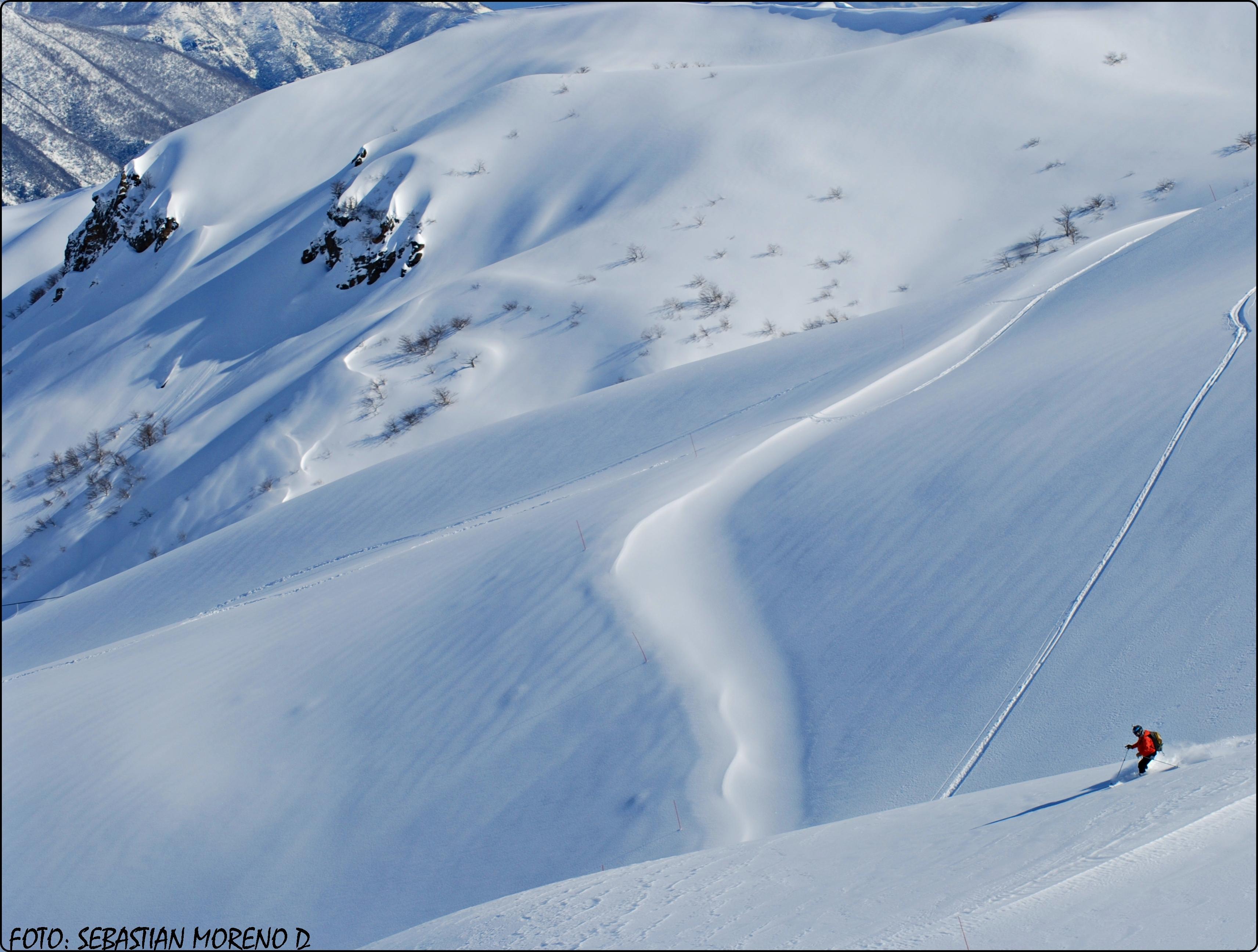 traver enbudo 2, Nevados de Chillan