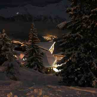 Night Shot from Courchevel 1850.