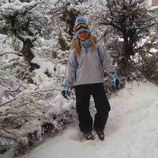 camino al esqui, Cerro Catedral