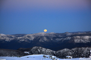 full moon rising, Mount Buller photo