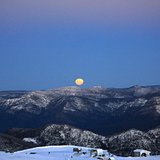 full moon rising, Mount Buller