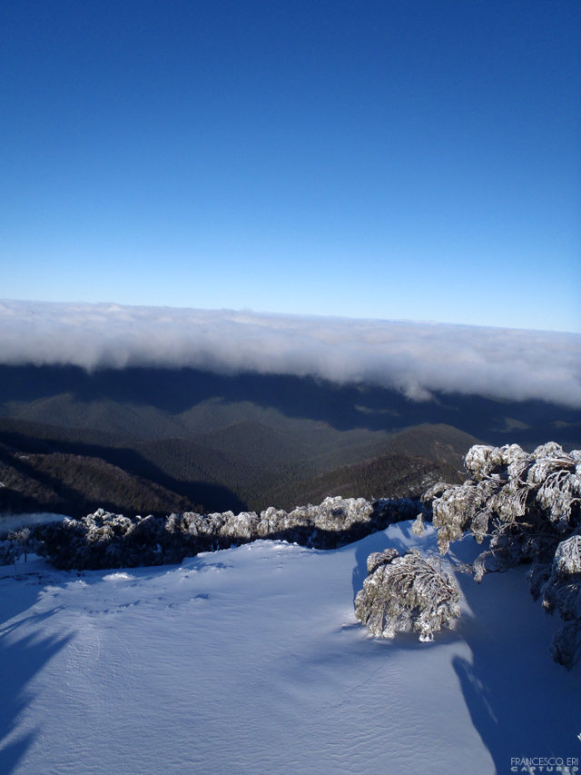 under the white clouds, Mount Buller