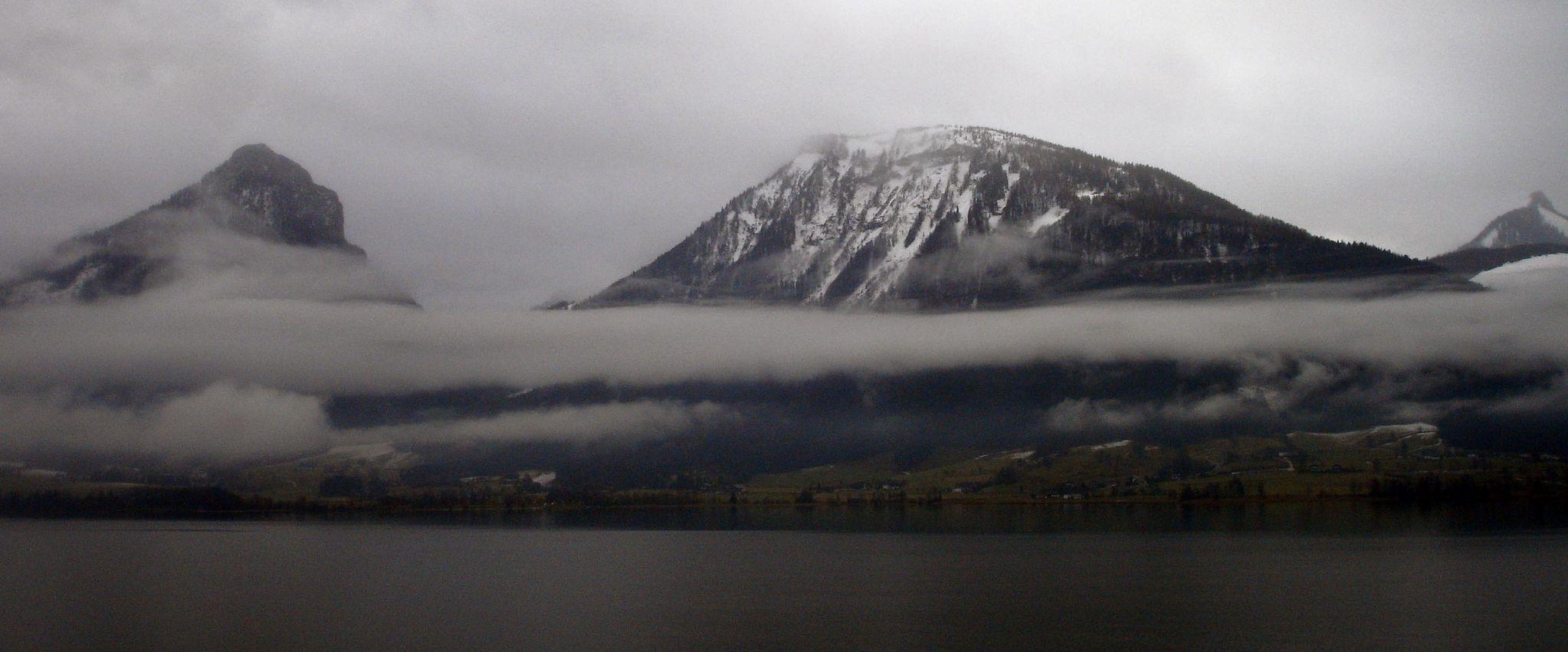 View across Lake Wolfgang, St Wolfgang