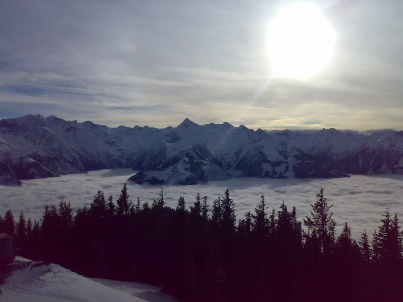 over clouds, Kaprun
