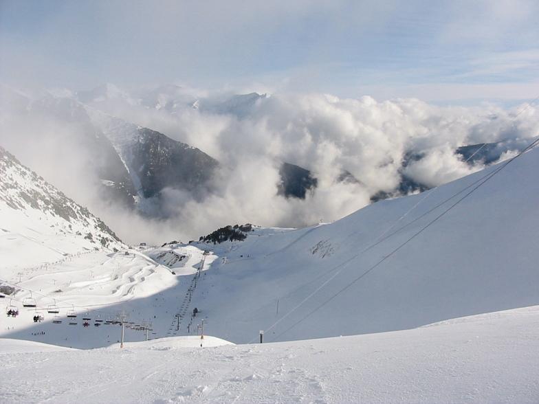 Arinsal at the top, Vallnord-Arinsal