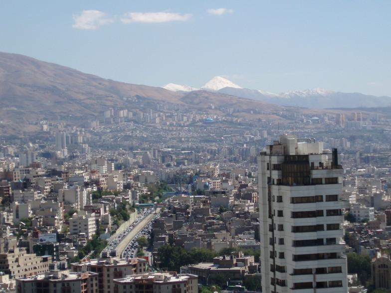 Damavand peak from Tehran., Mount Damavand