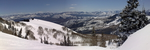 Snake Creek Pass panorama, Brighton Resort photo