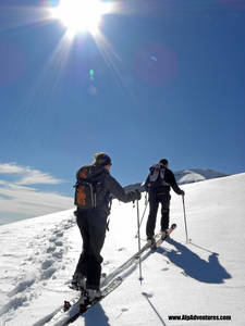 Skitouring, Flaine photo
