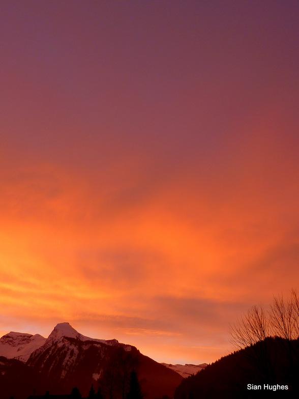 Sunset on Ressachaux, Morzine