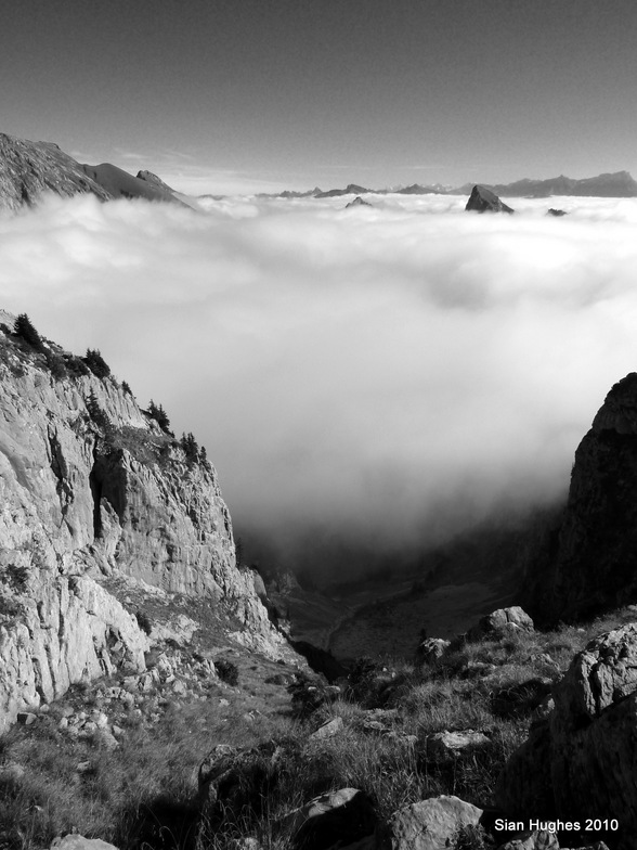 Cloud inversion from Mt Chauffe, Abondance
