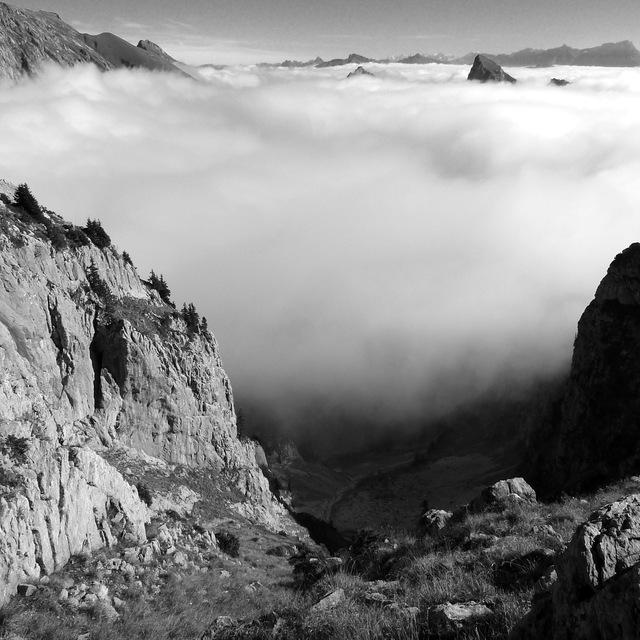 Cloud inversion from Mt Chauffe, Abondance