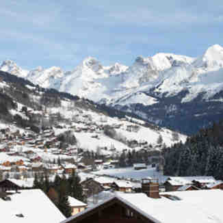 The authentic village of Le Grand Bornand