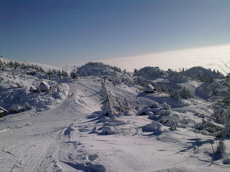 Velika Planina snow