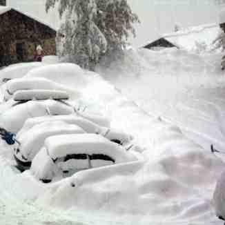 heavy snow, La Tania