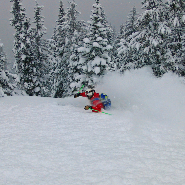 Deep in Targhee BC, Grand Targhee