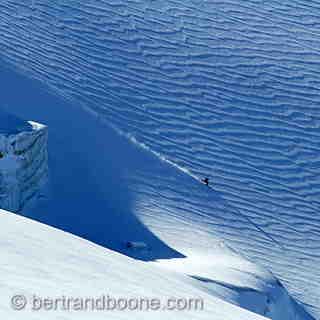 Droite sur le glacier de la Girose, La Grave-La Meije